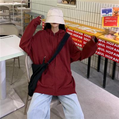 Zy Shop เสื้อกันหนาวขนาดใหญ่ เสื้อคาดิแกนด์สีพื้นมีฮู้ด มีหมวก ซิปหน้า สีสวยสไตล์เกาหลี ใส่คลุมได้กับทุกชุด.