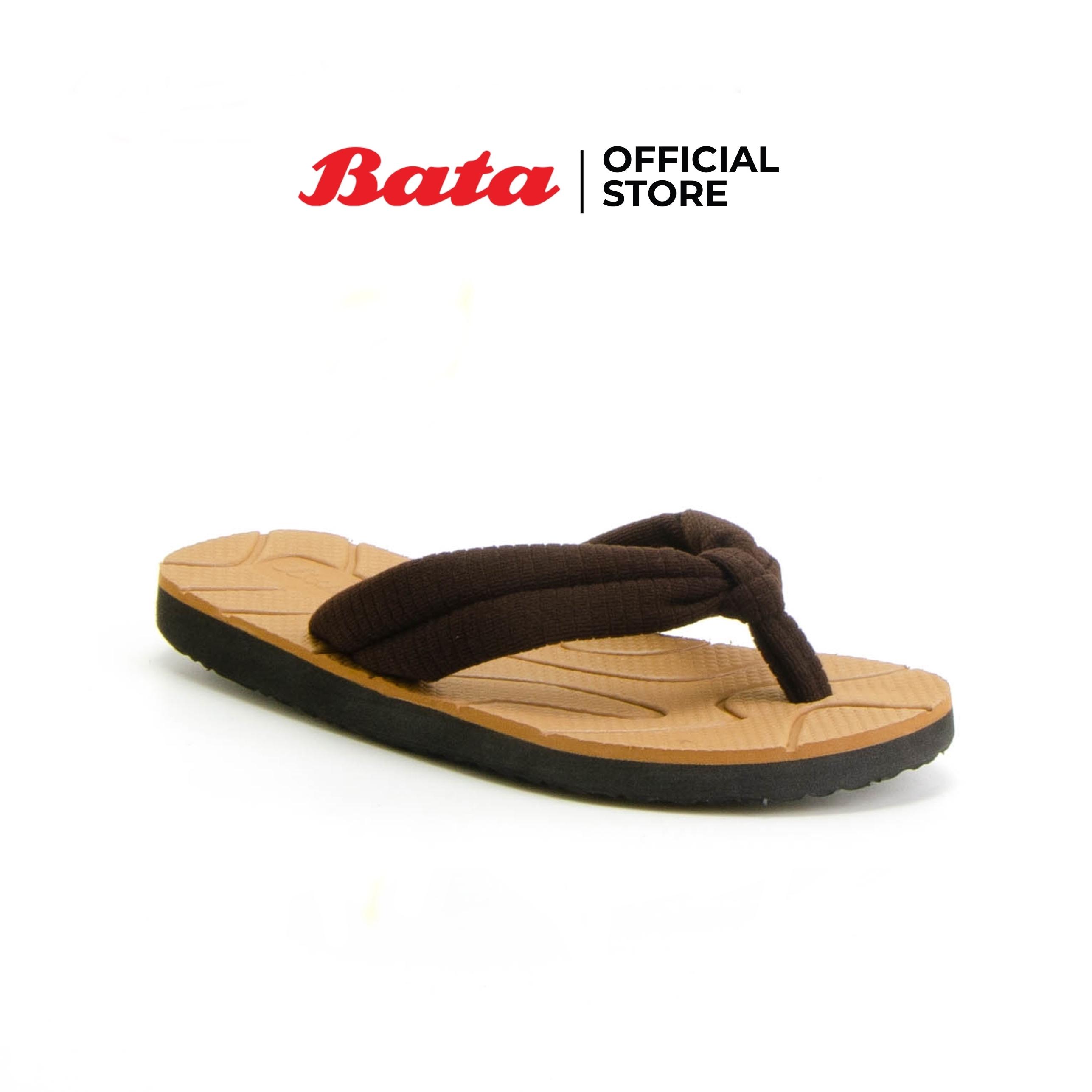 Bata รองเท้าแตะ ส้นแบน ผู้หญิง แบบหูคีบ สีน้ำตาล รหัส 5794258 Ladiesflat Fashion Summer.