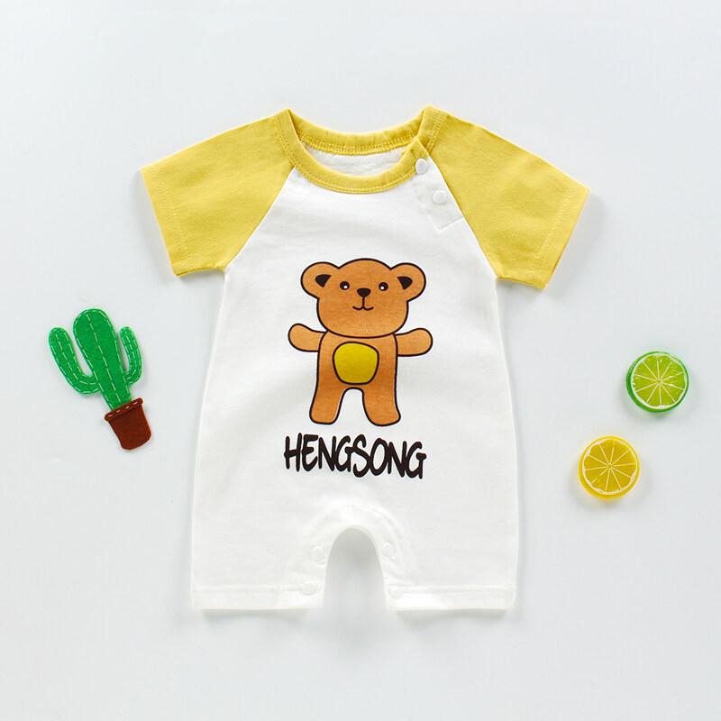 kiss baby ในไทยพร้อมส่ง เสื้อผ้าเด็กชุดเด็กหญิง ชุดเด็กชาย 0-18months new born ผ้าฝ้าย100% HS001