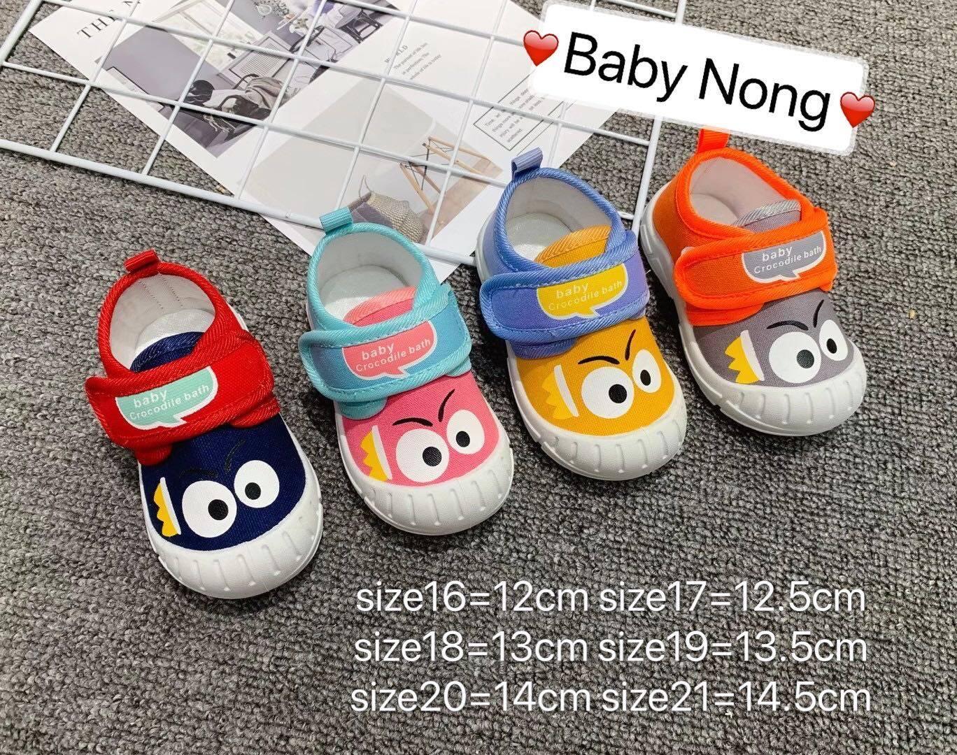 Baby Nong ใหม่ รองเท้าเด็กวัยหัดเดิน รองเท้าผ้าใบ รองเท้าเป่าโถวรองเท้าเด็กวัยหัดเดิน 1-3ขวบ.