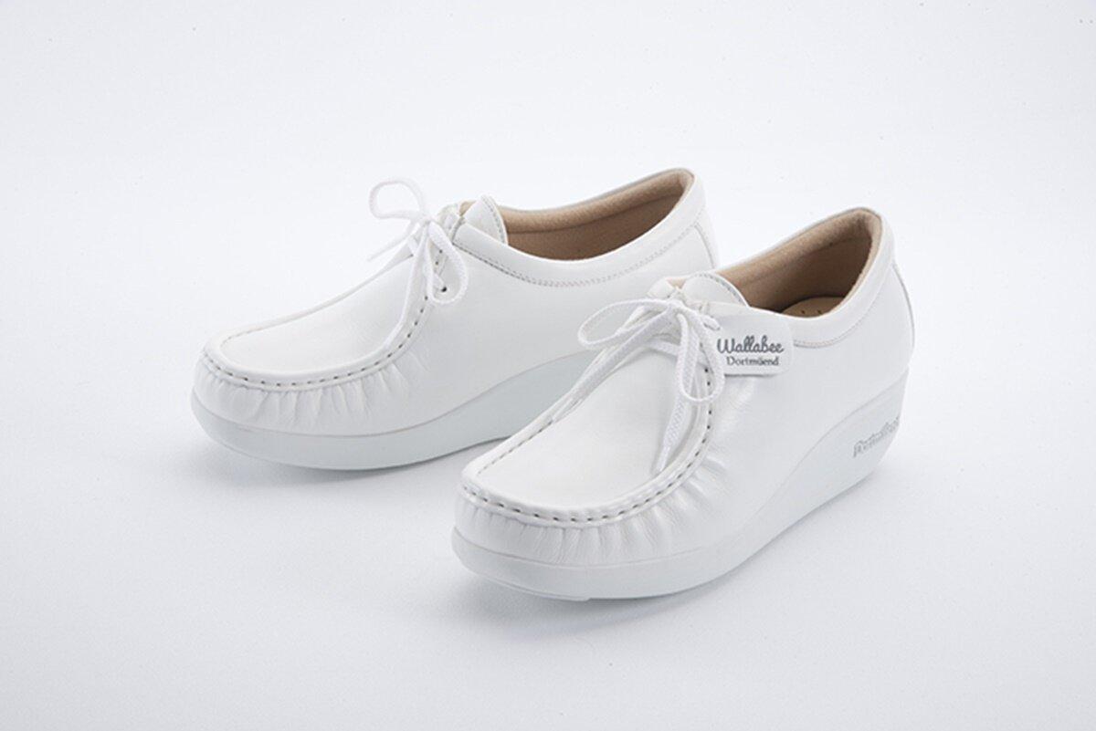 Js908-White Dortmuend Proseries รองเท้าสุขภาพ รองเท้าหมอ รองเท้าพยาบาล รองเท้าครู รองเท้าเชฟ รองเท้าเดินนาน ยืนนาน Wallabee 908 สบาย...กว่าที่เคยสบาย.