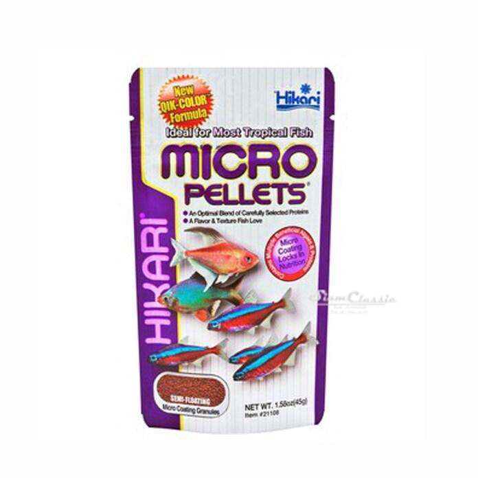 อาหารสำหรับปลาขนาดเล็ก Hikari Micro Pellets 45 g.