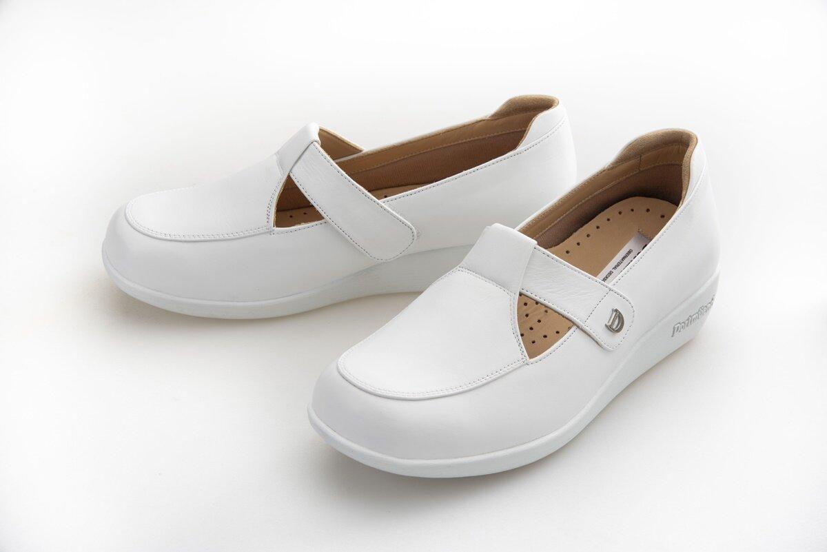 Js507-White Dortmuend Proseries ส้นสูง 1.25 รองเท้าสุขภาพ รองเท้าหมอ รองเท้าพยาบาล รองเท้าครู รองเท้าเชฟ รองเท้าเดินนาน ยืนนาน.