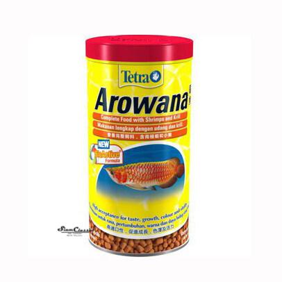 Tetra Arowana อาหารปลาอโรวานา ทุกสายพันธุ์ ขนาด 85g. ช่วยเพิ่มสี สร้างภูมิต้านทาน