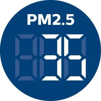 แสดงระดับฝุ่นละอองขนาดเล็ก 2.5 ไมครอน (PM2.5) แบบเรียลไทม์
