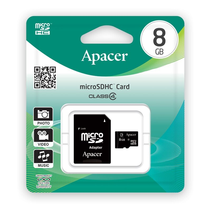 Image result for apacer microsdhc 8gb class4