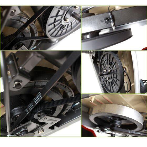 Fly Wheel ขนาด 8 กิโลกรัมมาตราฐาน สายพานหนา ใหญ่ ทนพิเศษ วิ่งแล้วนุ่ม เสียงรบกวนน้อยกว่า ดูแลรักษาง่ายกว่า