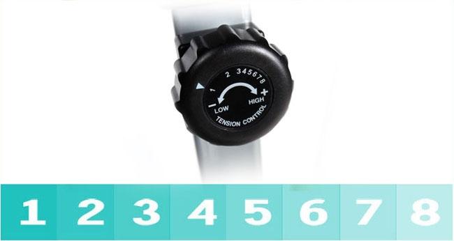 ระบบแม่เหล็ก Magnetic ปรับระดับแรงต้านได้ 8 ระดับอย่างง่ายดาย