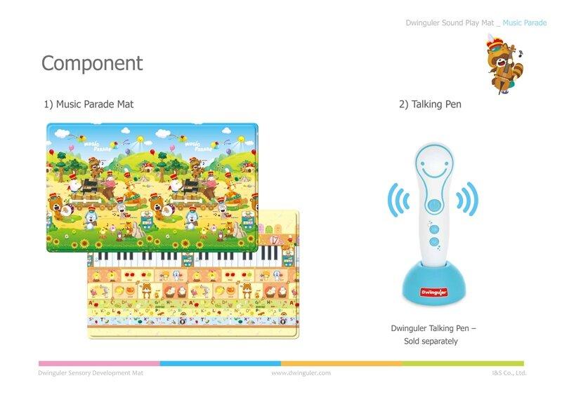 Dwinguler Playmat PVC ขนาด 230 x 140 x 1.5 cm.(Music Parade) ( Voice)