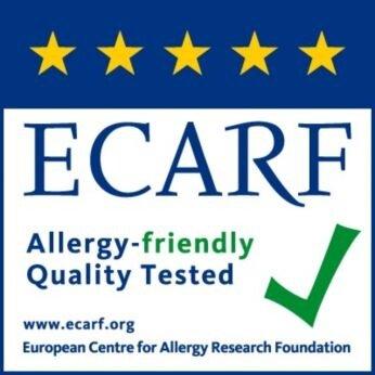 ได้รับการรับรองหรือทดสอบโดย ECARF และ Airmid