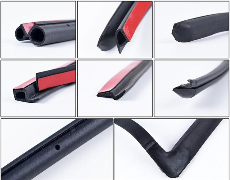 Car Door Noise Insulation Soundproofing Seal Strip Rubber 5M Black Small P Type