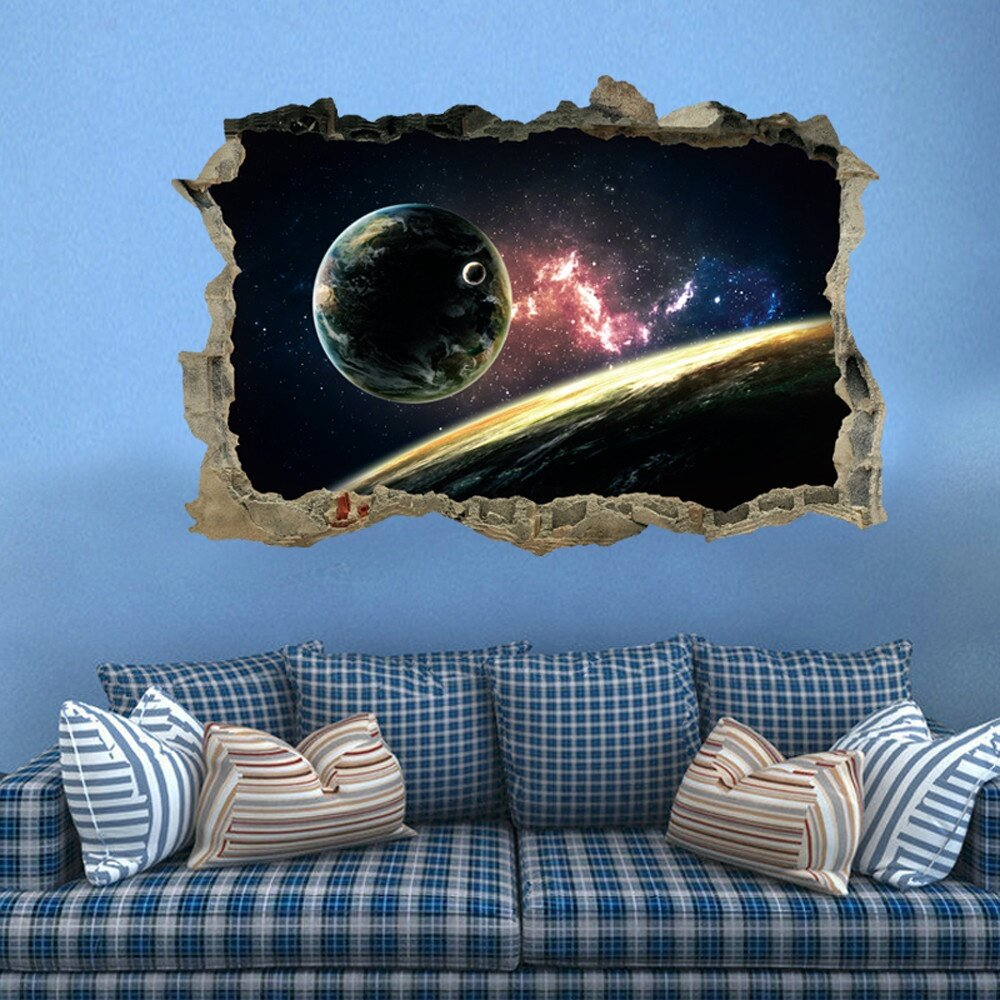 3d star series floor wall sticker removable mural decals for What kind of paint to use on kitchen cabinets for vinyl removable wall art