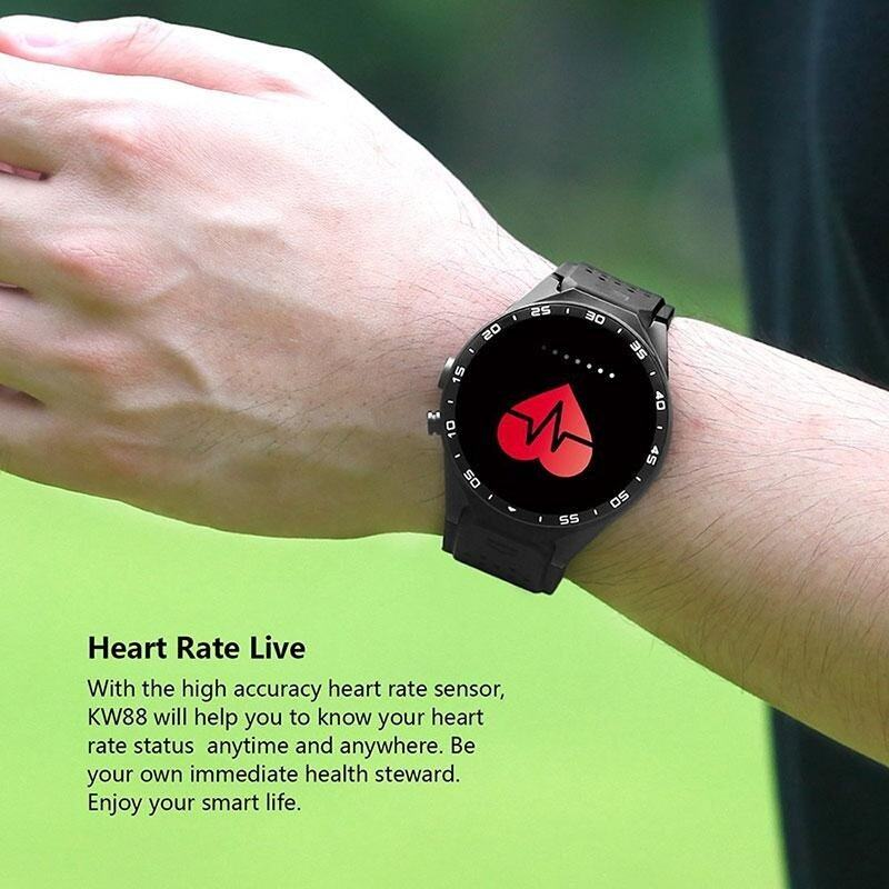 Rodeal KW88 3G WIFI Smartwatch Cell Phone All-in-One