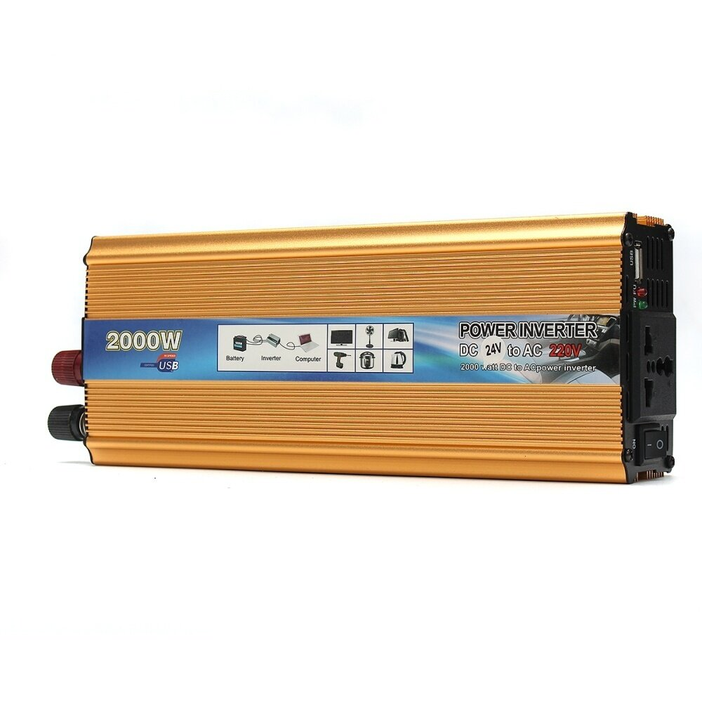 2000w Portable Car Modified Sine Wave Power Inverter Converter Dc Circuit With Waveform Images Verified Features Have A Fully Functional Protective Short Overrating Overload Over Temperature Inverse Protection