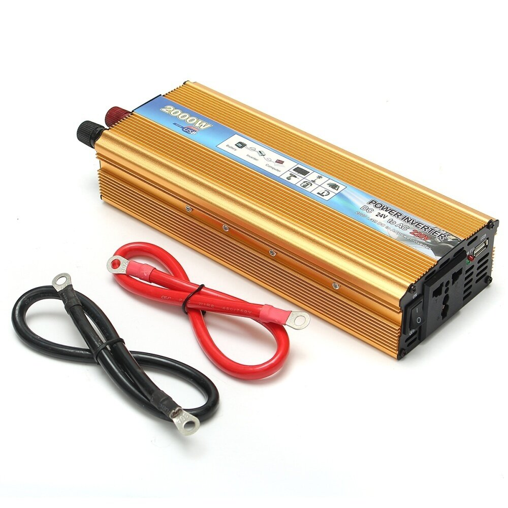 2000w Portable Car Modified Sine Wave Power Inverter Converter Dc Circuit With Waveform Images Verified Input Voltage 24v Output Ac 220v Frequency 50hz Efficiency 90