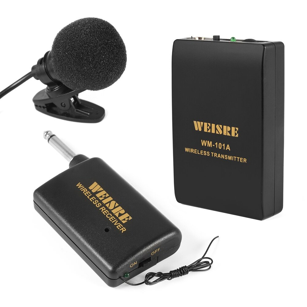 wireless cordless lavalier lapel microphone system clip on mic transmitter. Black Bedroom Furniture Sets. Home Design Ideas