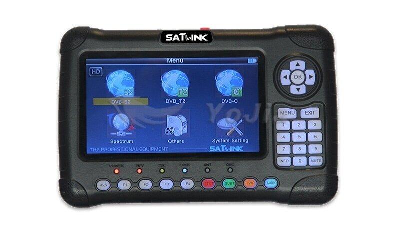 Satlink WS-6980 HD Combo DVB-T/T2 & DVB-S/S2 & Bisskey เครื่องวัดสัญญาณ  ทีวีดิจิตอล T2 ดาวเทียม S2 Bisskey และ กล้องวงจรปิด ที่ระดับมืออาชีพ  เลือกใช้