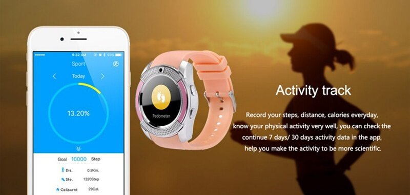 Bluetooth Smart Watch with Camera, Touchscreen Smart Wrist