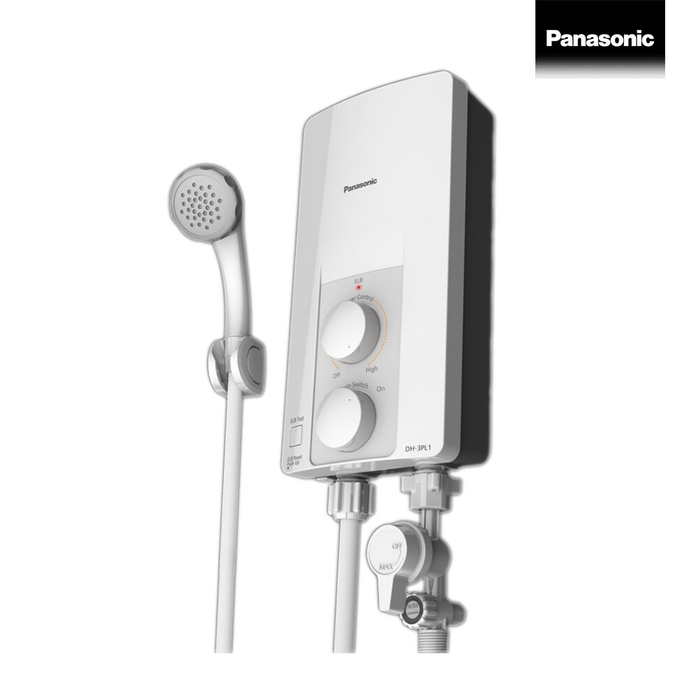 Panasonic electric shower เครื่องทำน้ำอุ่น 3500 วัตต์ รุ่น DH-3PL1TH