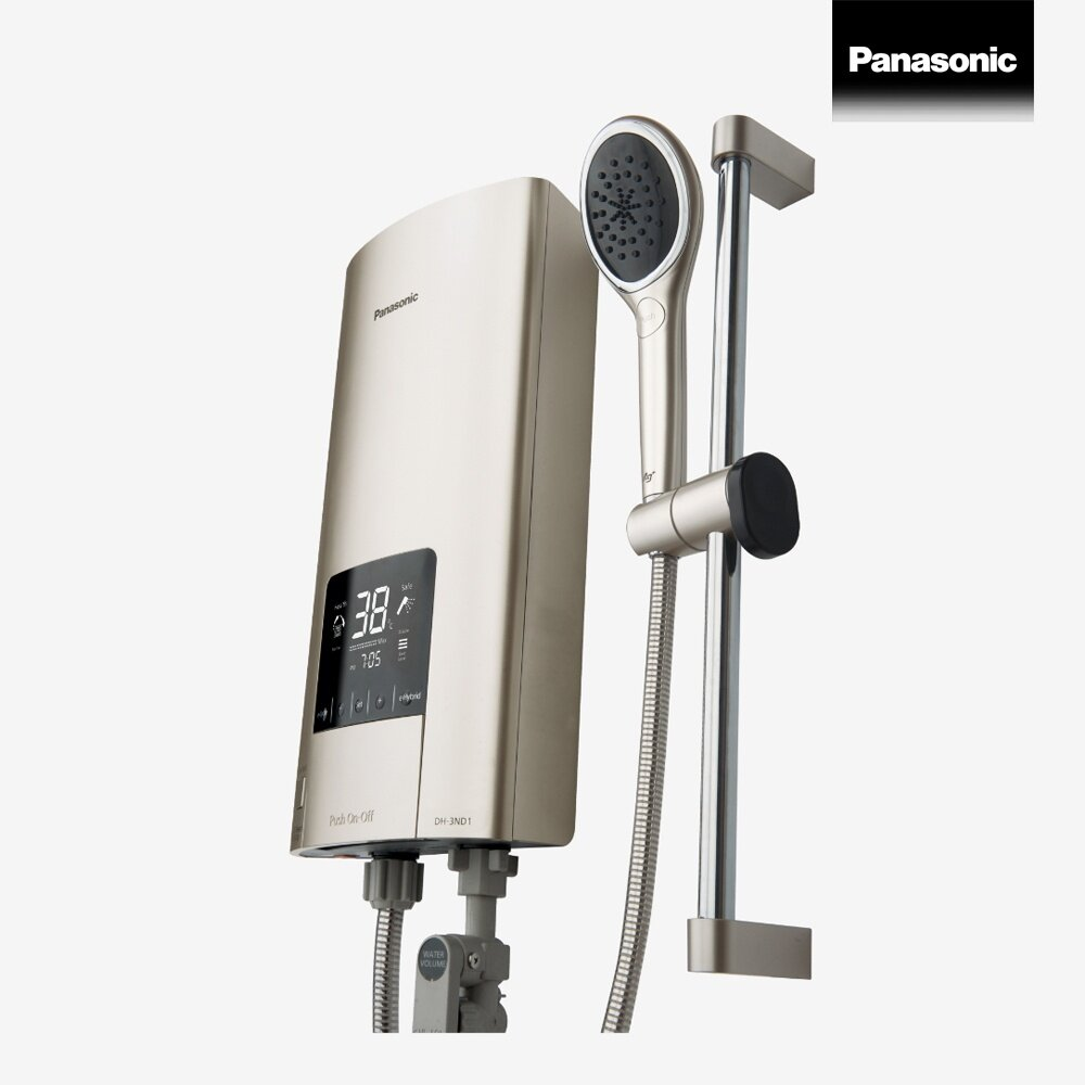 Panasonic digital electric shower เครื่องทำน้ำอุ่นระบบดิจิตอล 3500 วัตต์ รุ่น DH-3ND1TS